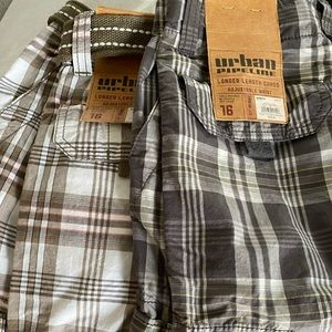 2 pairs of boys urban pipeline shorts